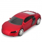 "A8 Mini Car Shape Rechargeable 0.8"" LCD Speaker w/ TF / USB / FM Radio - Red + Black"