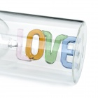 Love Toast Coupe en verre à vin à double paroi rouge-Transparent (200ml)