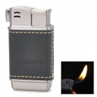 Zinc Alloy + PU Butane Gas Lighter for Smoking Pipe - Black + Silver