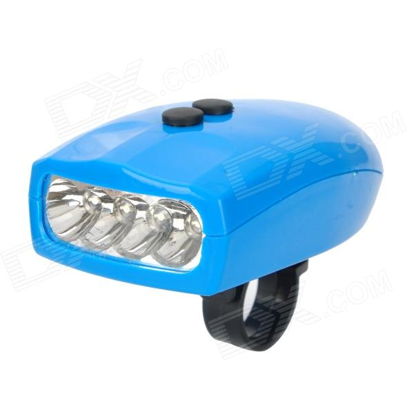 SX-168 Bicycle 4-Sound 2-Flahsing Electric Horn w/ LED Light - Blue (3 x AAA)