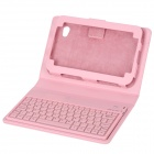 82-Key Bluetooth V2.0 Wireless Keyboard + PU Leather Case Set for Samsung Galaxy Tab P1000 - Pink