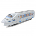 Mini Electric Universal China Railways High-Speed Train w/ LED Light - White + Blue (3 x AA)