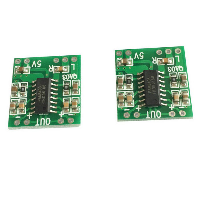 цена на Mini Digital 3W+3W Amplifier Module Board - Green (DC 2.5~5V / 2 PCS)