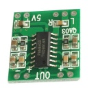 Mini Digital 3W+3W Amplifier Module Board - Green (DC 2.5~5V / 2PCS)