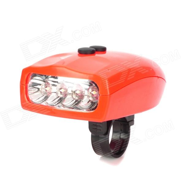SX-168 Bicycle 4-Sound 2-Flashing Electric Horn w/ LED Light - Red (3 x AAA)