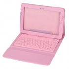 77-Key Wireless Keyboard + PU Leather Case Set for Samsung Galaxy Note 10.1 N8000 - Pink