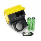 360 Degree Rotation Plastic Electronic Horn for Bicycle - Yellow + Blue (2 x AAA)