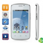"H1 Android 2.3 GSM Bar Phone w/ 3.5"" Capacitive Screen, Dual-Band, Wi-Fi and Dual-SIM - White"