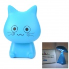 YiPinTang Cat Style Rechargeable 0.75W 2-Mode 15-LED White Light Desk Lamp - Blue (2-Flat-Pin Plug)