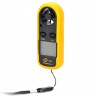 "GM816 1.5"" LCD Portable Digital Wind Speed Meter Anemometer - Black + Yellow (1 x CR2032)"