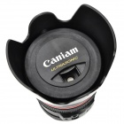 Camera Lens Shape USB Charger Cold Fog Air Humidifier w/ Sponge Stick - Black