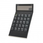 "AQ737 3.7"" LCD 8-Digit Calculator w/ World Time / Calendar / Alarm Clock - Black (1 x CR2025)"