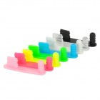 Colorful Micro USB + Earphone Jack Anti-Dust Plug for Iphone 5 (8 PCS)