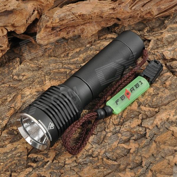 FEREI 521 860lm 3-Mode White USB Powered Flashlight w/ Cree XM-L T6 - Black (1 x 18650) convoy s5 860lm 2 group 3 5 mode white led flashlight w cree xm l2 u2 black 1 x 18650