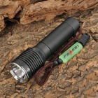 FEREI 521 Cree XM-L T6 860lm 3-Mode White USB Powered Flashlight - Black (1 x 18650)