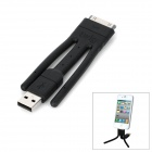 Multifunction Twig Apple 30-Pin Male to USB Male Data Cable - Black
