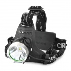 R2-B Cree XM-L T6 690lm 3-Mode White Headlamp - Black + Silver (1~2 x 18650)
