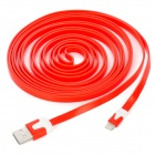 8P-3M 8 Pin Lightning Male to USB Male Data Transmission / Charging Cable for iPhone 5 - Red (300cm)