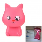 YiPinTang LJC-080 Cat Style AC Power 0.75W 15-LED White Rechargeable Table Lamp - Deep Pink