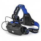 Cree XM-L T6 600lm 3-Mode White Zooming Headlamp - Black (2 x 18650)