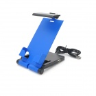 HAPTIME MKITP-2 Retro Headset + Foldable Holder w/ USB Cable for Iphone / HTC / Samsung - Blue