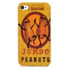 Cute Peanuts Pattern Plastic Back Case for Iphone 4 / 4S - Yellow