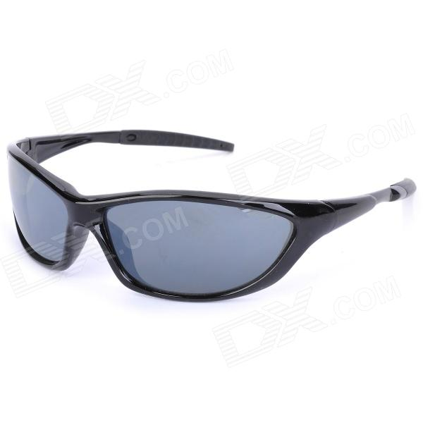KaShiLuo 059 Men's Bicycle Riding Polarized UV400 Protection Sunglasses - Black