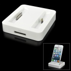 Stylish Charging Docking Station w/ 8-Pin Lightning / 30-Pin Connector for iPhone 5 / 4 - White