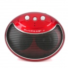 Gucee X8 Smile Face Mini Wireless Bluetooth V2.1 Speaker - Red + Silver