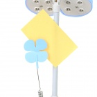 YiPinTang Four-Leaf Clover Style 0.8W 2-Mode 16-LED White Light Desk Lamp w/ Clip - Blue (3 x AA)