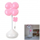 YiPinTang LJC-070 Four-Leaf Clover Style USB Power 0.8W 16-LED Table Lamp - Pink + White (3 x AA)