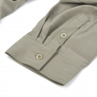 Hasky XQQ-SGY-17 Camping Hiking Quick-Dry Clothes w/ Detachable Sleeves for Men - Khaki (XL)
