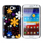 Raindrop Style Protective Back Case for Samsung Galaxy Note II N7100 - Black