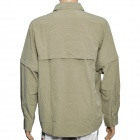 Hasky XQQ-SGY-17 Camping Hiking Quick-Dry Cloth w/ Detachable Sleeves for Men - Khaki (Size-L)