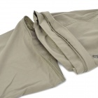 Hasky Camping Hiking Quick-Dry Clothes w/ Detachable Sleeves for Men - Khaki (Size-L)