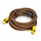 HDMI V1.3 Male to Male Connection Cable - Brown + Yellow + Black (300cm)