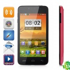 "T6198 Android 2.3 GSM Bar Phone w / 4,3 ""kapazitiven Bildschirm, Dual-Band, Wi-Fi-und Dual-SIM - Red"
