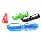 Cool Spectacle Frame Shape Blue Ink Ballpoint Pens - Assorted Color (4 PCS)