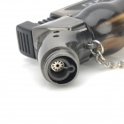 Pear-Shaped 1300'C Windproof Butane Jet Torch Lighter - Grey Black