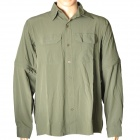 Hasky XQQ-SGY-17 Camping Hiking Quick-Dry Cloth w/ Detachable Sleeves for Men - Army Green (L)