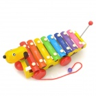 QSQ-01 Cute Cartoon Dog Hand Knocks Xylophone Toy w/ Sticks - Multicolored