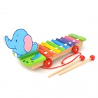 Cute Elephant Style Hand Knock Glockenspiel Xylophone 8 Notes Musical Instrument Toy
