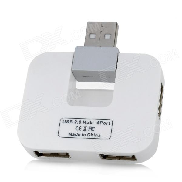 HAPTIME MKSBH-1 480Mbps High Speed USB 2.0 4-Port HUB - White