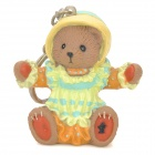 Cute Bear Baby Style PVC Keychain - Yellow + Green + Orange + Coffee
