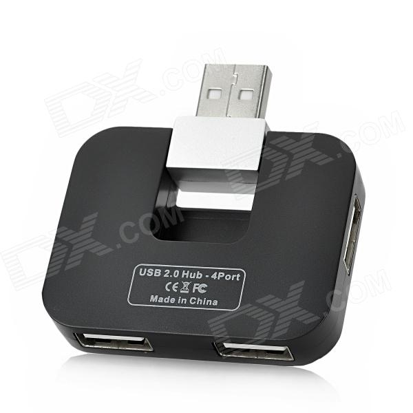 HAPTIME YGH-383 Fashion 4-Port USB 2.0 Hub - Black