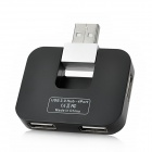 HAPTIME YGH-383 Fashion 4-Port USB 2.0 Hub - Schwarz