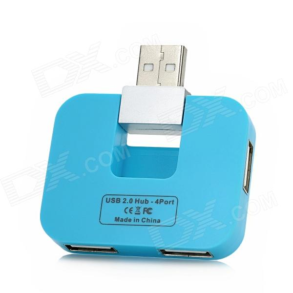 HAPTIME MKSBH-3 480Mbps High Speed USB 2.0 4-Port HUB - Sky Blue