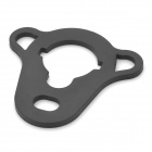 MA04 Steel Rear Sling Plate Mount Adapter for AK / G36 / M4 - Black