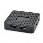 BH307 4-Port USB 3.0 High Speed Hub - Black