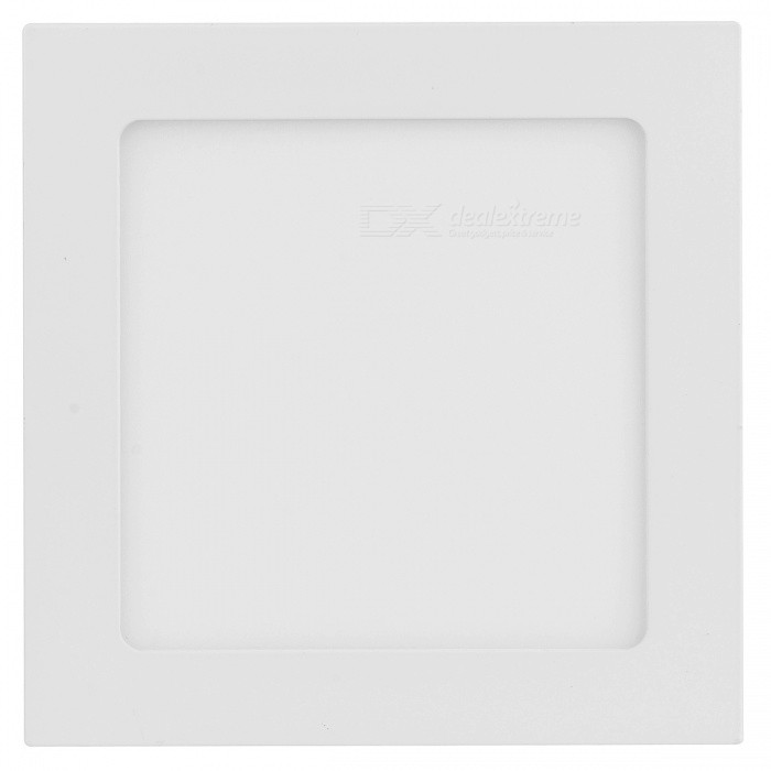 Square Shaped 12W 4000K 1050lm 12-LED Warm White Light Ceiling Light Lamp - White (100~250V)